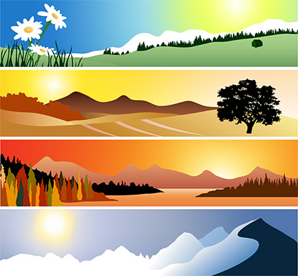 4 seasons landscape
