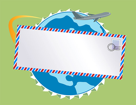 airmail letter overseas