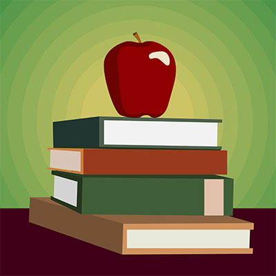 vector apple book education