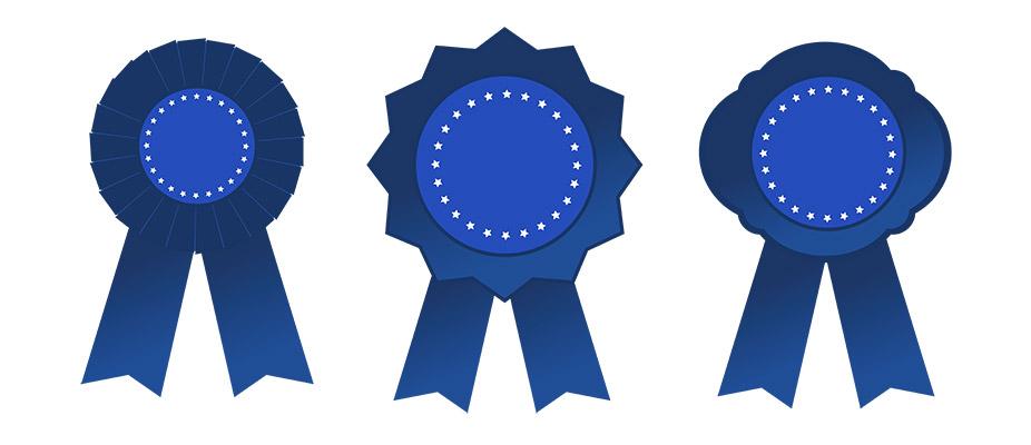 vector blue medals