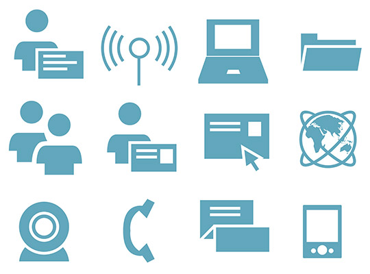 business communication icons 2