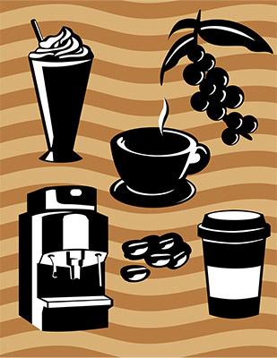 coffee aroma icons