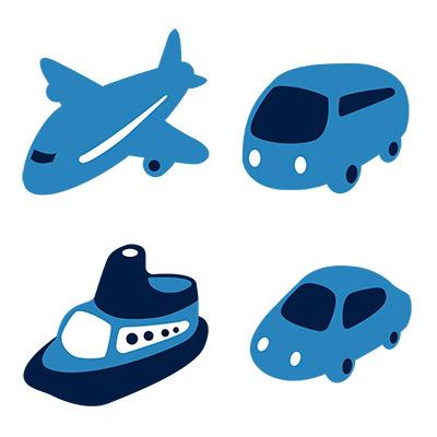 cute transportation icons