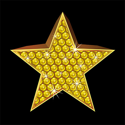diamond gold star