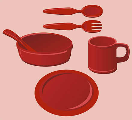 kids dish set