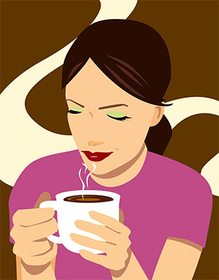 woman coffee