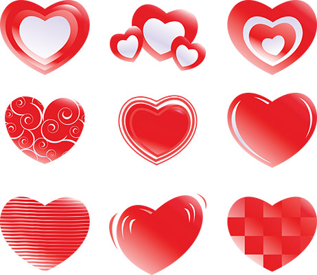 3d gel hearts