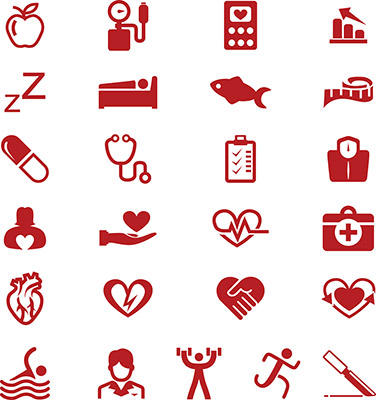 cardiology medicine icons smart series