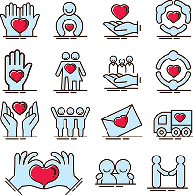 care charity kindness icon