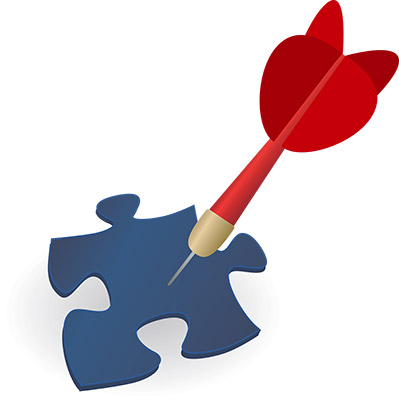 dart puzzle piece