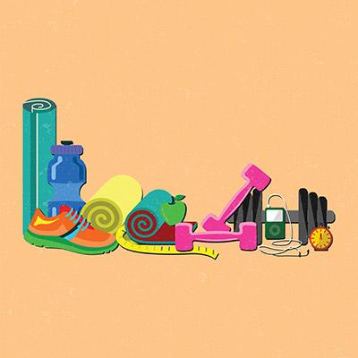fitness flat illustration