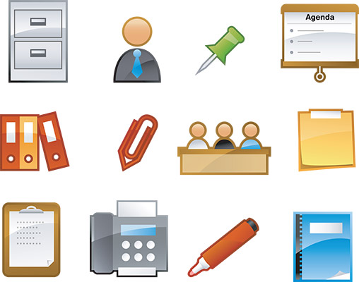 glossy office 2 icons
