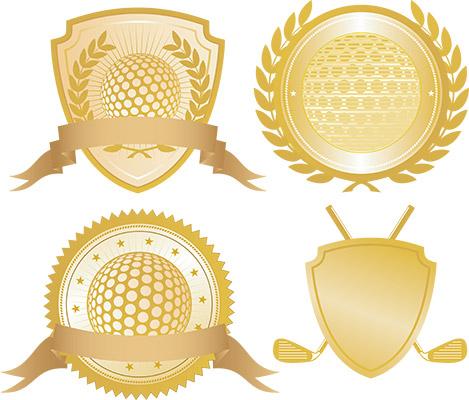 golf gold seals