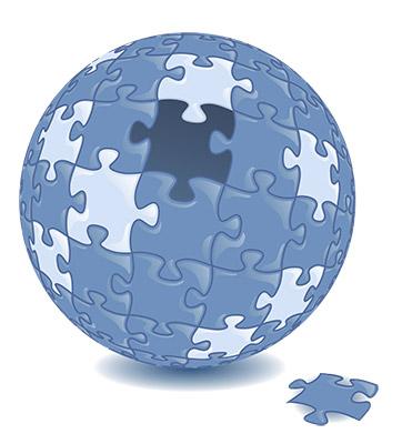 jigsaw globe puzzle