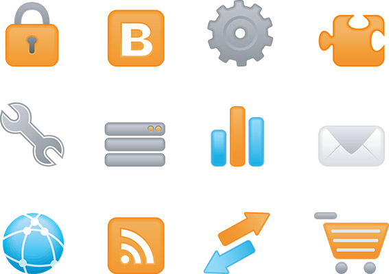 matte web hosting icons