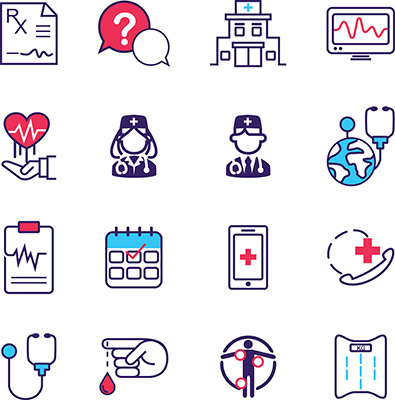 medical & health care icons set 1