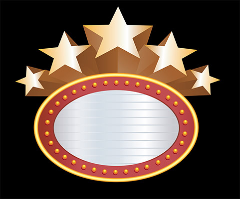 star banner circle