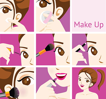step to make up for woman